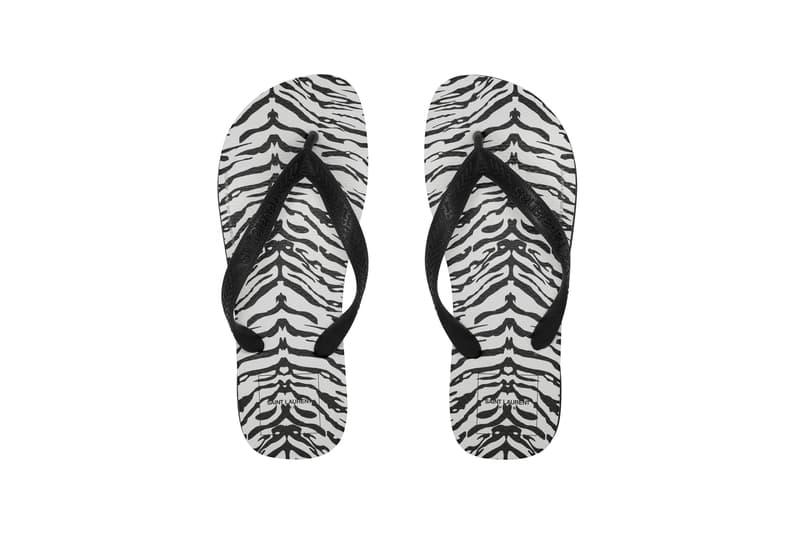 Havaianas x Saint Laurent Zebra Sandals Black White