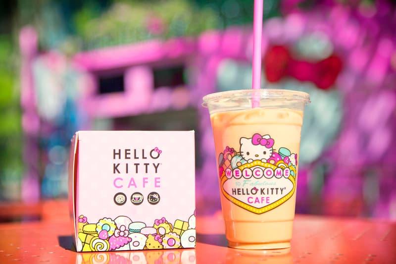 Hello Kitty Cafe The Park Las Vegas Opening Hours Date Sanrio Cookies Tea Coffee Lemonade Donuts Cakes Gudetama Keroppi
