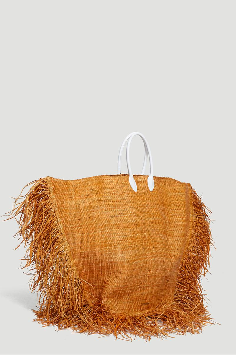 jacquemus le baci bag beige straw oversized fashion designer
