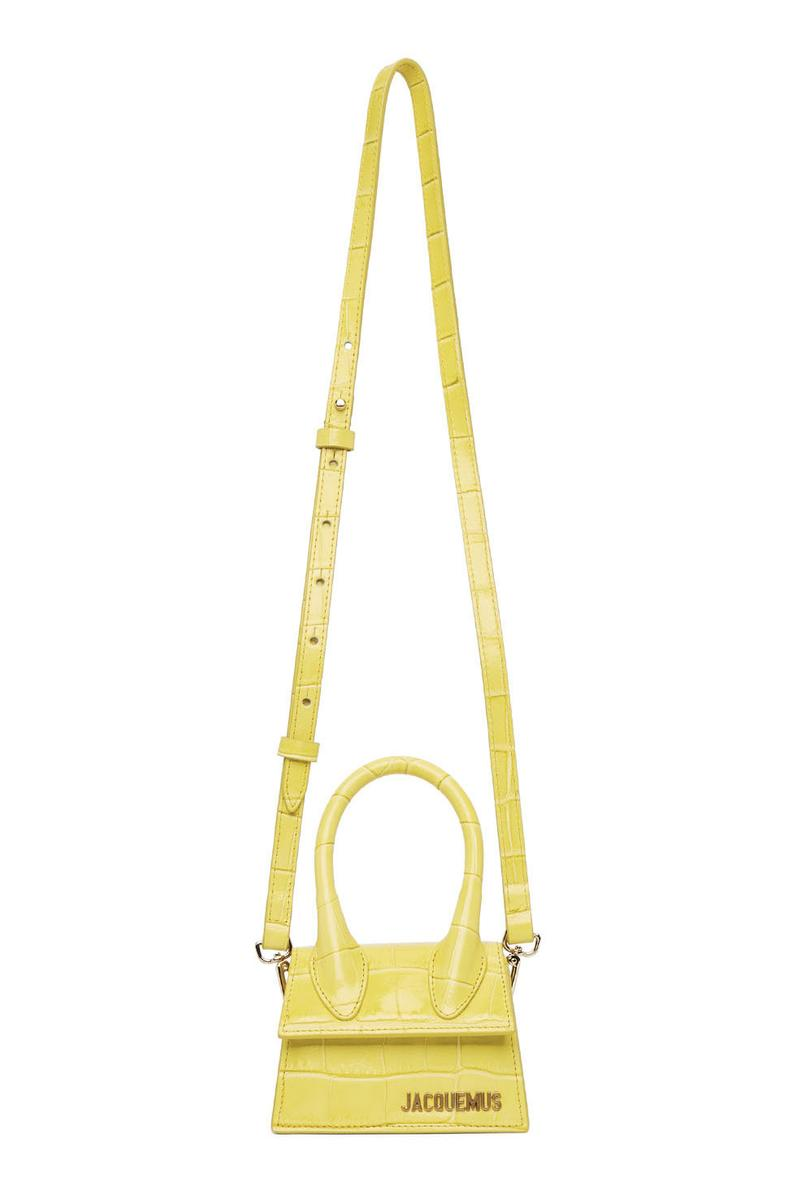 Jacquemus Le Chiquito Tiny Bag Summer Release Crocodile Croc Embossed Accessory Purse Clutch