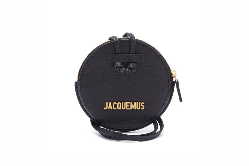 Jacquemus Le Pitchou grained-leather necklace bag Black