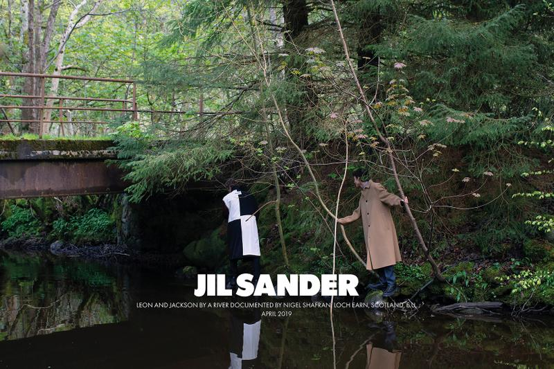jil sanders fall winter 2019 advertising campaign a rbroath loch earn scotland editorial photoshoot nature