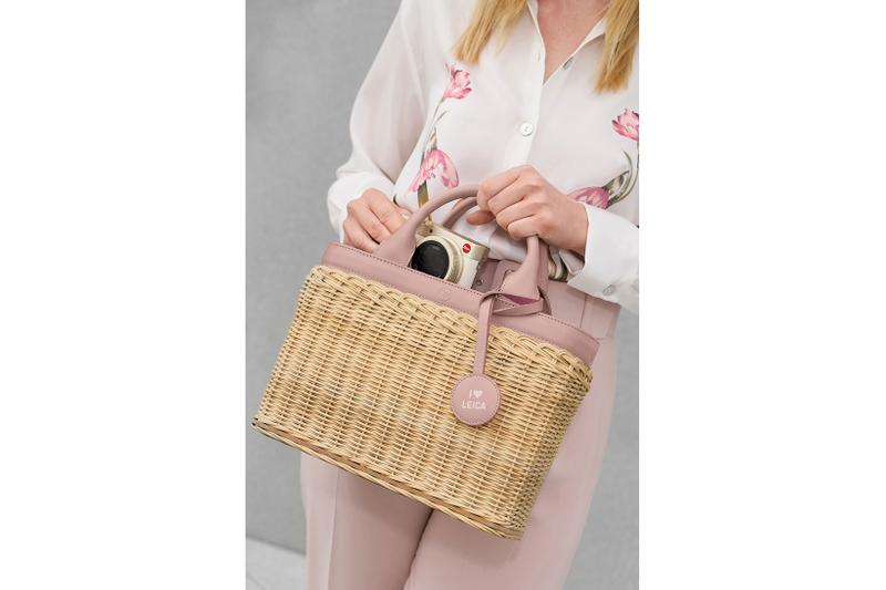 leica camera q2 d-lux travel tote bag wicker basket protector leather blue pink