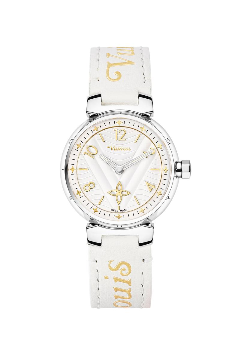 louis vuitton tambour new wave watch timepiece customizable strap