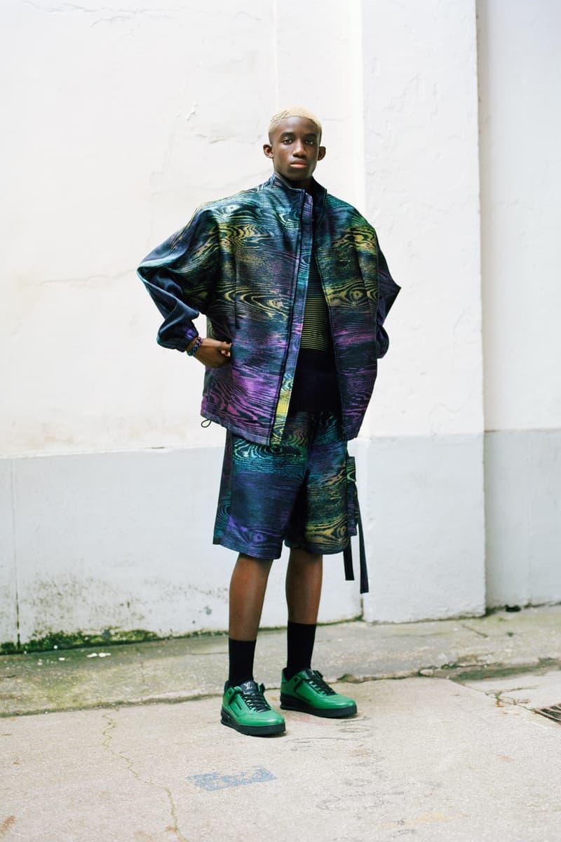 Louis Vuitton Men's Pre-Spring 2020 Lookbook Jacket Shorts Green Purple Blue