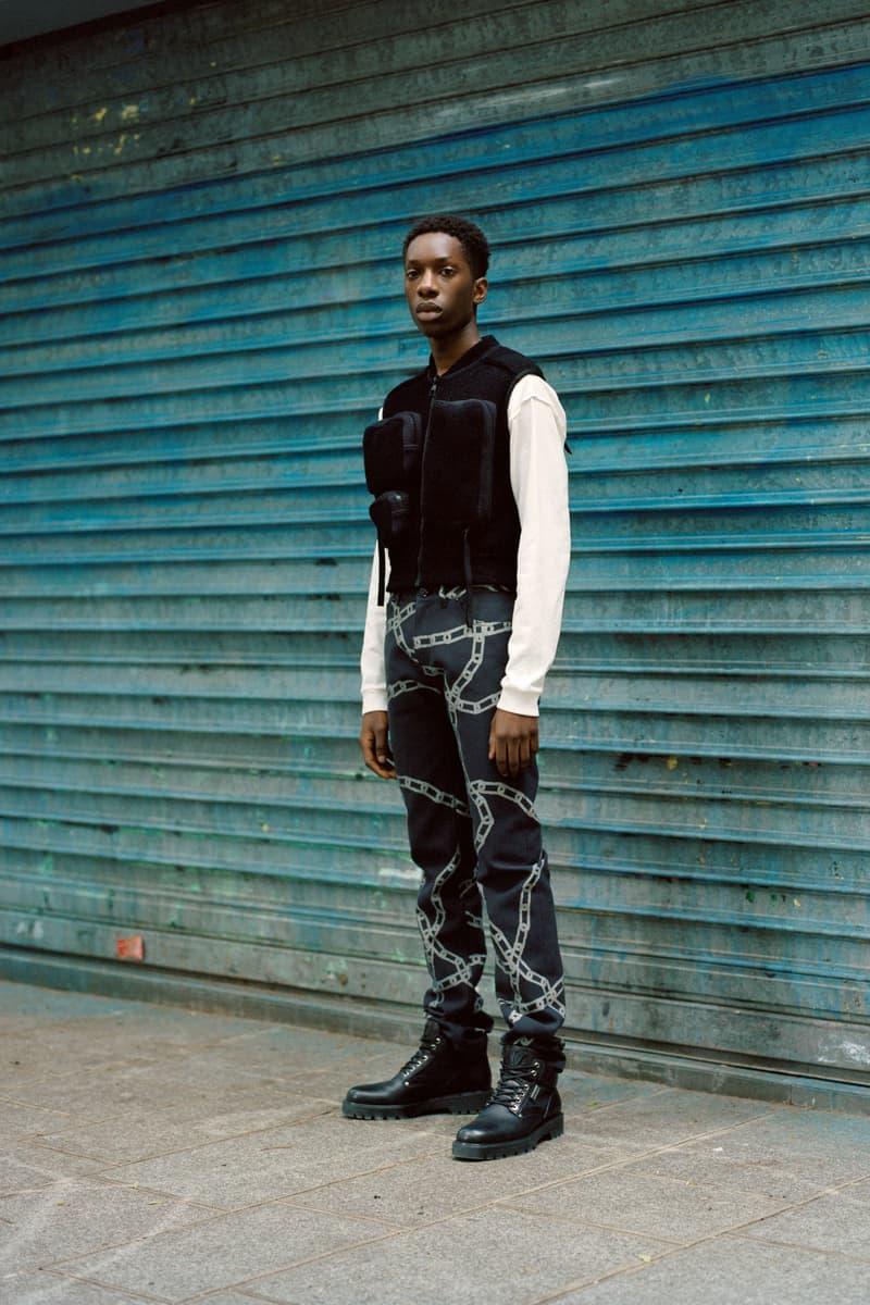 Louis Vuitton Men's Pre-Spring 2020 Lookbook Vest Pants Black Shirt White