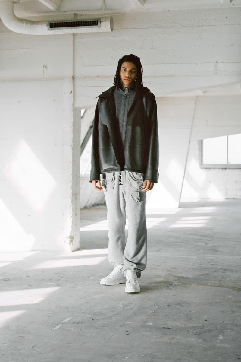 Louis Vuitton Men's Pre-Spring 2020 Lookbook Jacket Black Pants Grey