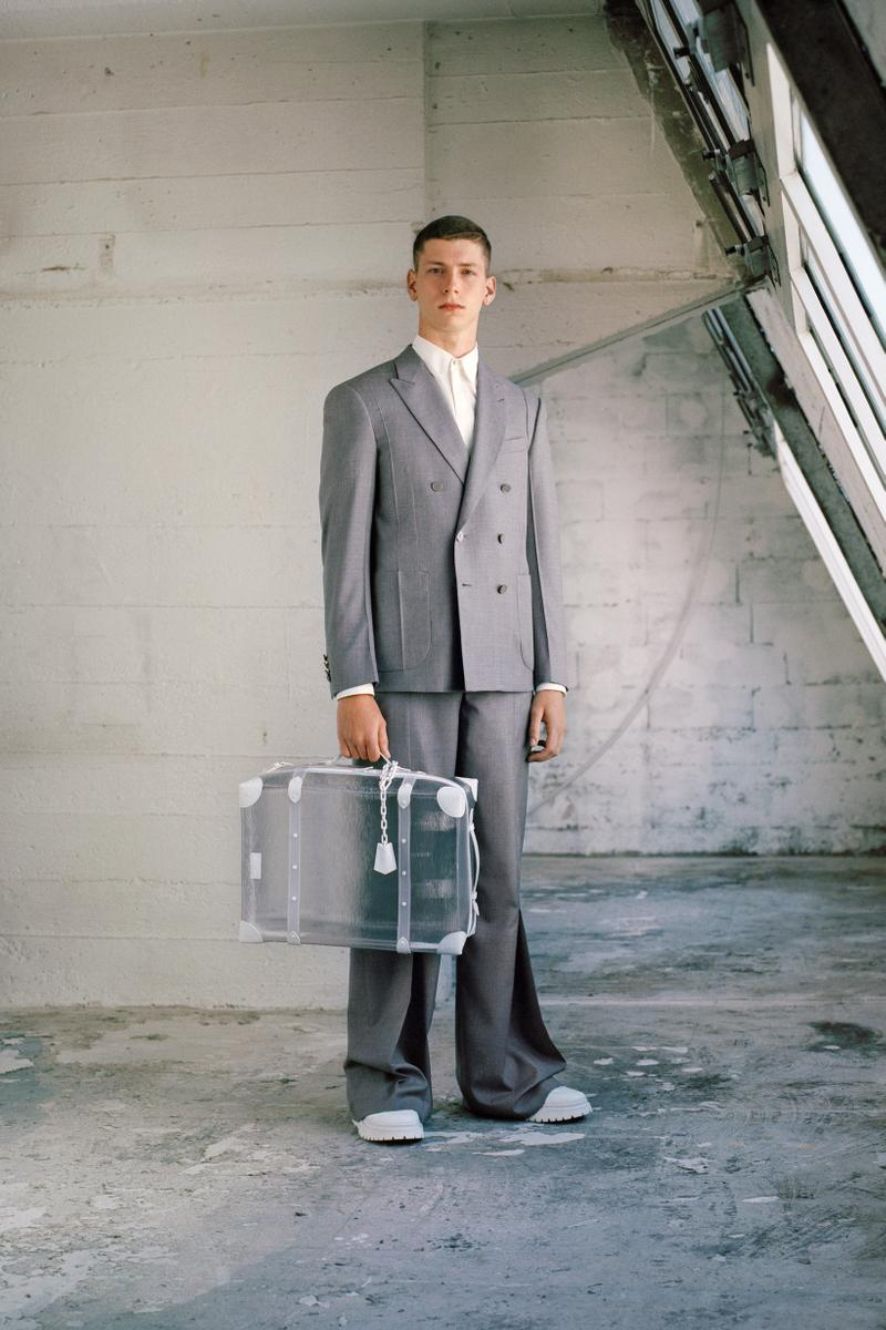 Louis Vuitton Men's Pre-Spring 2020 Lookbook Blazer Pants Grey