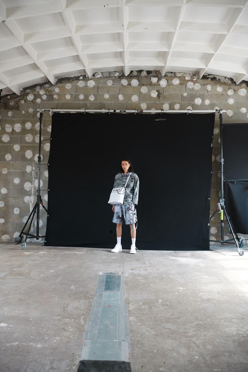 Louis Vuitton Men's Pre-Spring 2020 Lookbook Jacket Shorts Grey