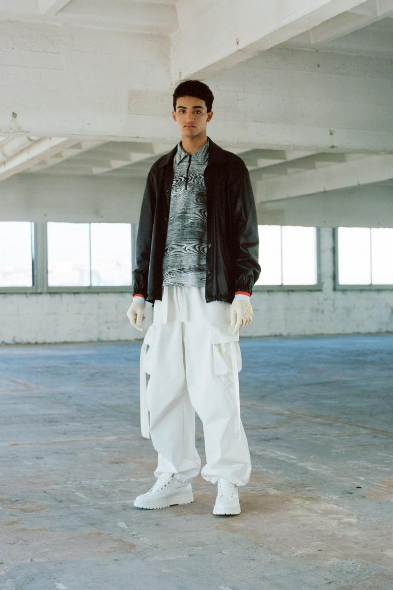 Louis Vuitton Men's Pre-Spring 2020 Lookbook Jacket Brown Shirt Grey Pants White