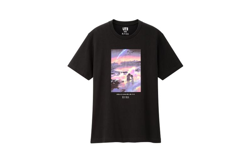 Makoto Shinkai x Uniqlo UT T Shirt Collection Black Pink
