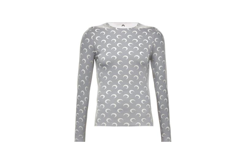 marine serre long sleeve moon grey shirt white reflective jeans maison margiela bag