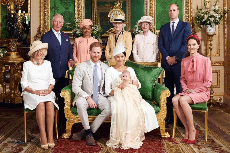 dior meghan markle prince harry son archie christening fashion royal family kate middleton doria ragland windsor castle royalty england