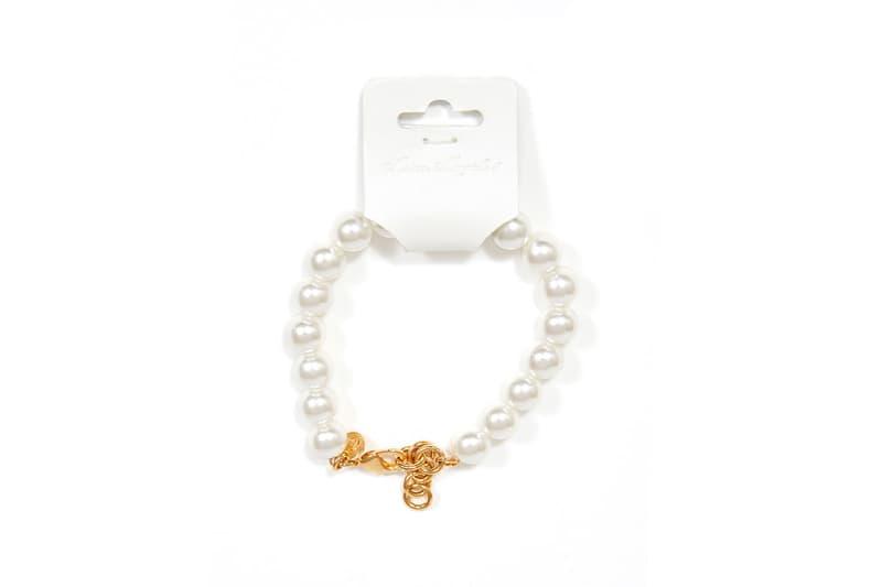mm6 maison martin margiela jewelry white rings earrings necklace bracelet faux pearl