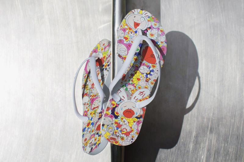 murakami takashi tidal new york flip flops los angeles broad museum collab