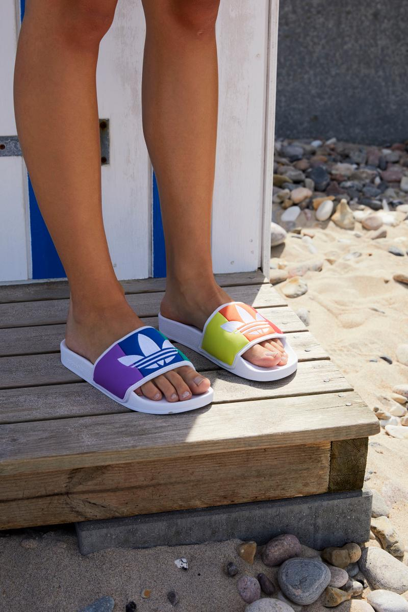 Naked Summer 2019 Editorial adidas Originals Adilette Slide Pink Purple Yellow