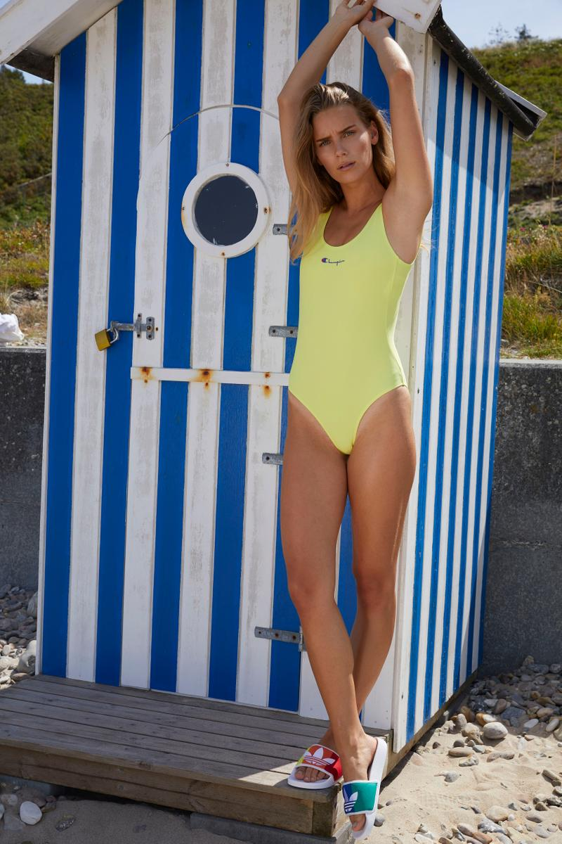Naked Summer 2019 Editorial Champion One Piece Swimsuit Yellow
