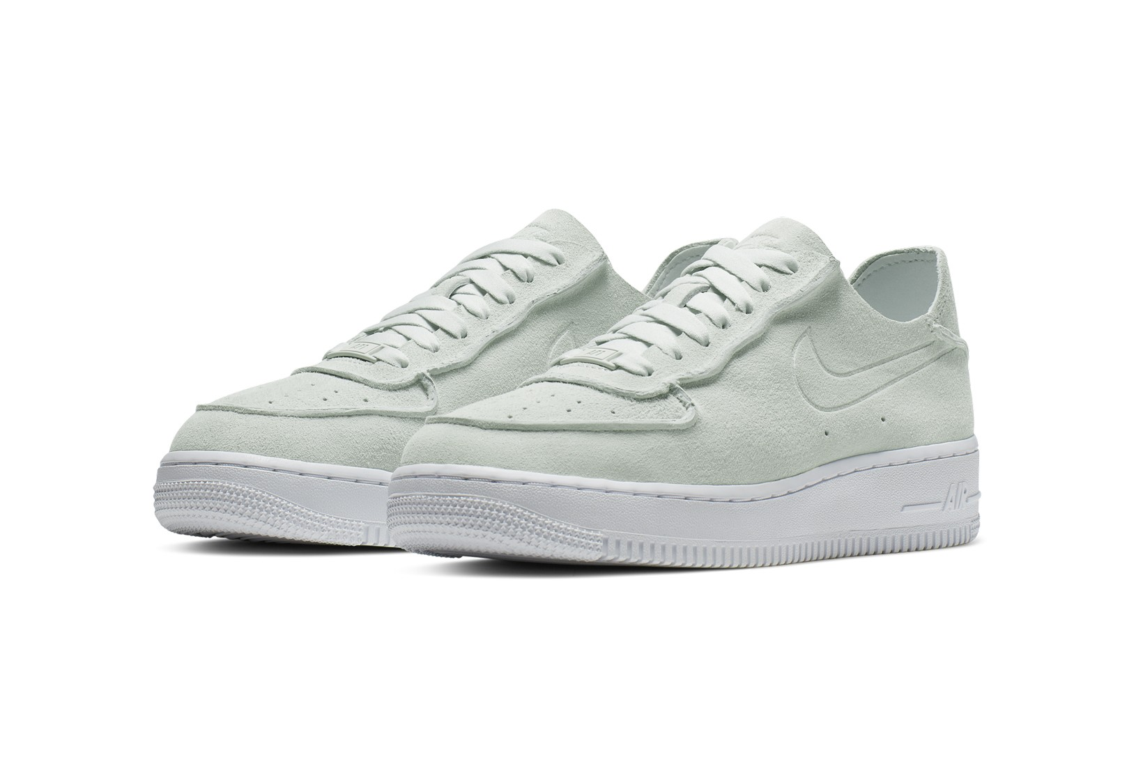 mint green and white air force 1