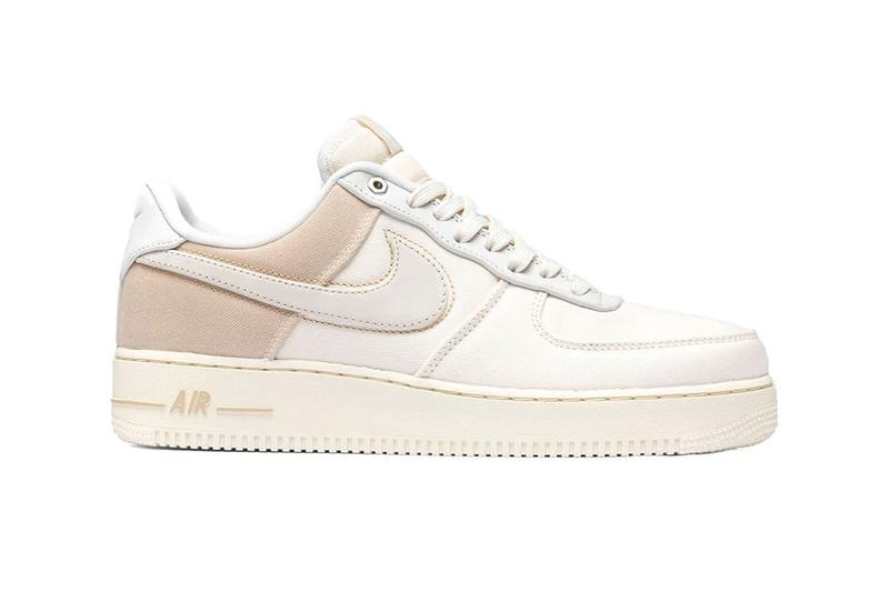 nike air force 1 07 pale ivory light cream minimal stitching