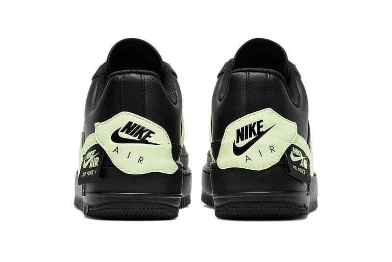 Nike Air Force 1 Jester XX Black Barely Volt Neon Green Swoosh Trainers Sneakers