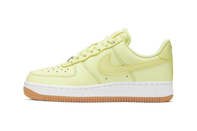 Nike Air Force 1 Luminous Green White Gum Sneakers Trainers Neon