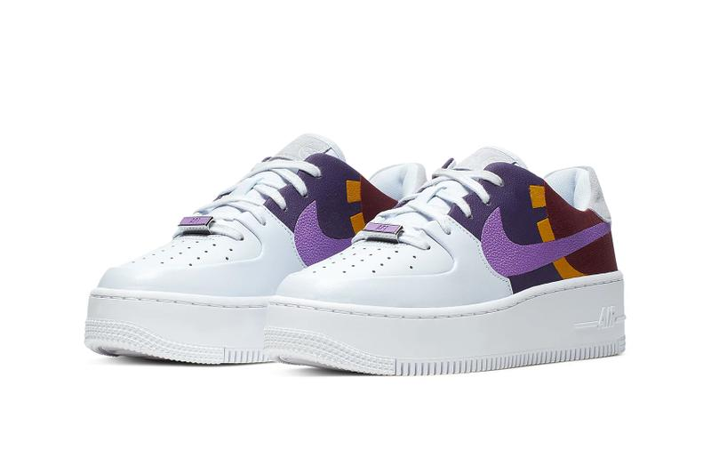 nike air force 1 sage low lx basketball themed sneakers footwear team red orange light aqua hyper violet