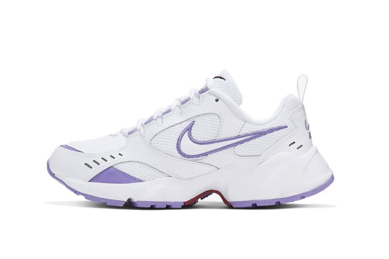 Nike Air Heights New Chunky Sneaker Trainer Dad Shoe Retro Inspired White Black Purple Silver Color