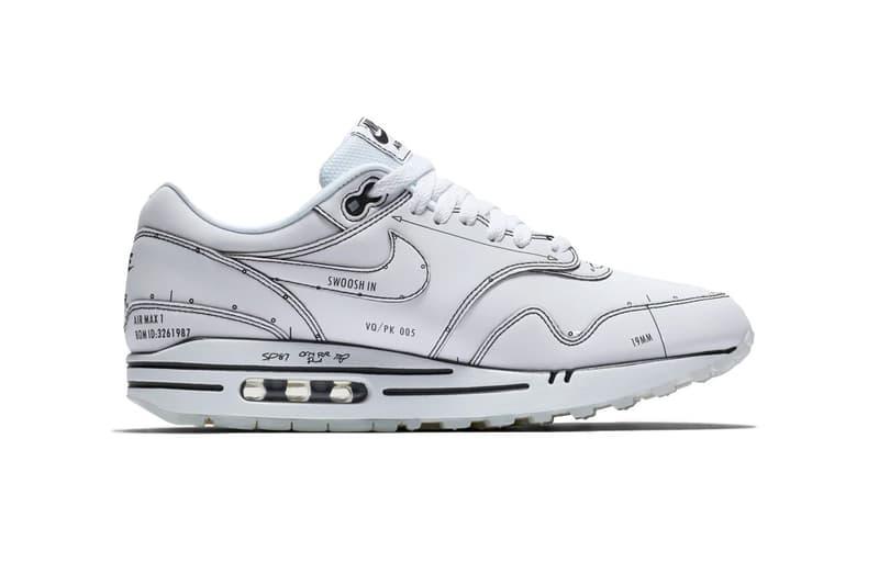 nouveau style 5ef6d 23b39 Nike Air Max 1 Sketch to Shelf White Sneaker | HYPEBAE