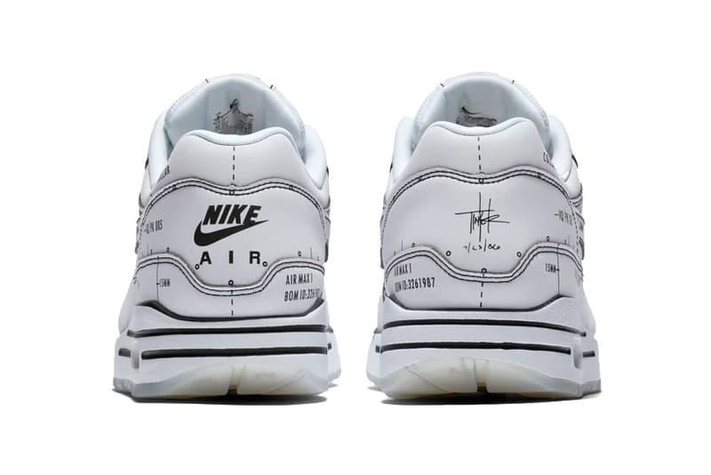 nike air max 1 sketch to shelf schematic white sneaker