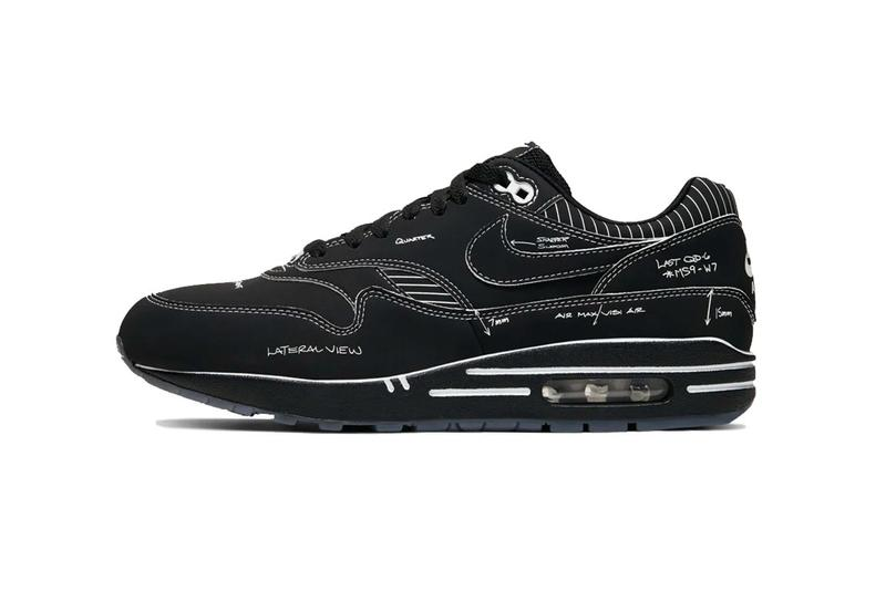 nike air max 1 sketch to shelf schematic black sneaker
