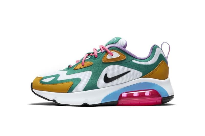 nike air max 200 mystic green release drop date sneakers footwear am200