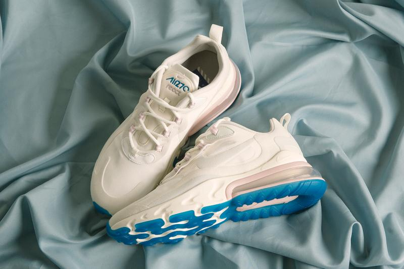 nike air max 270 react sneaker white cream pink blue