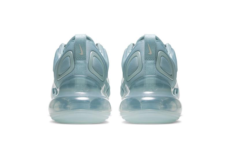 nike air max 720 luminous lime green ocean cube phantom vast grey blue monochromatic sneakers footwear shoes sneakerhead