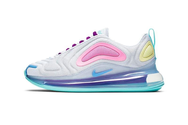 nike air max 720 pastel psychic powder pink light aqua sneaker