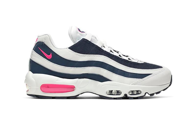 nike air max 95 pink blast midnight navy white reflective sneaker