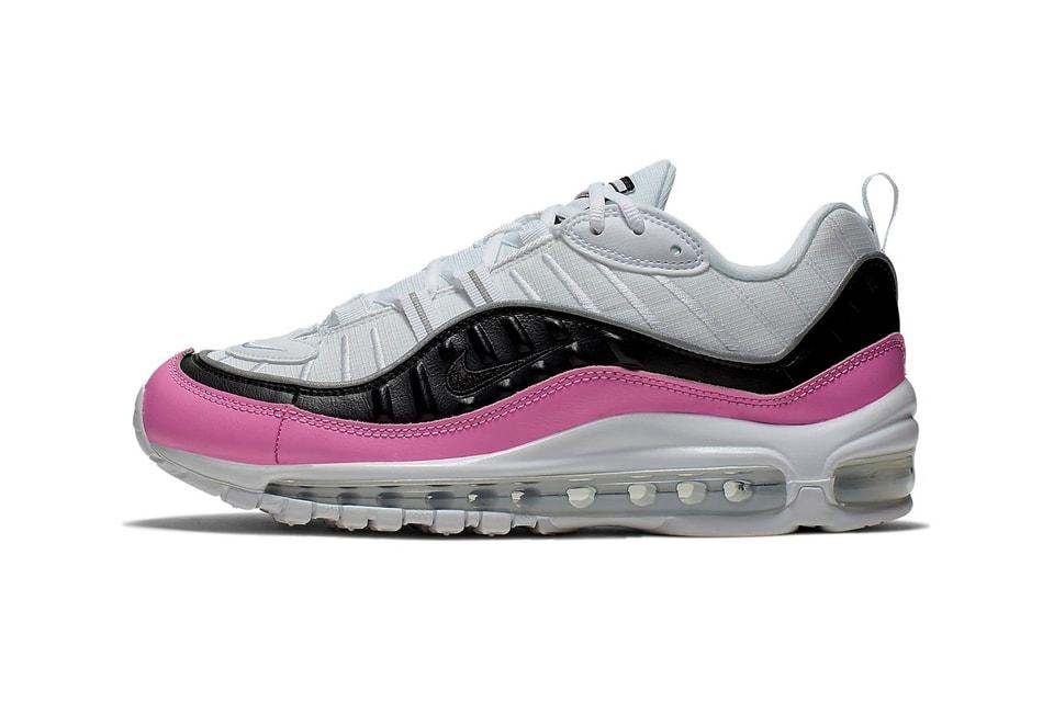 parilla Consciente Entre  Nike Air Max 98 SE China Rose Pink, Black & White | HYPEBAE