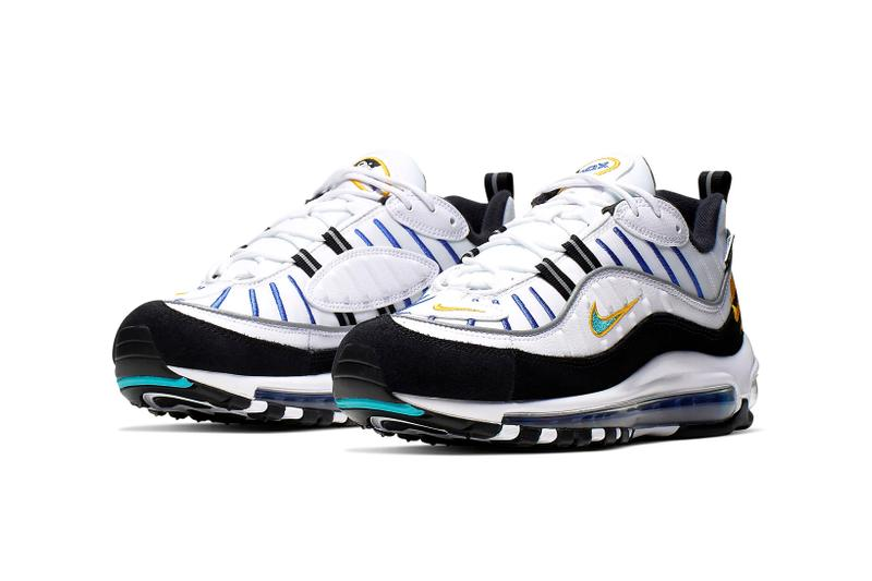 Nike Air Max 98 White University Gold Black