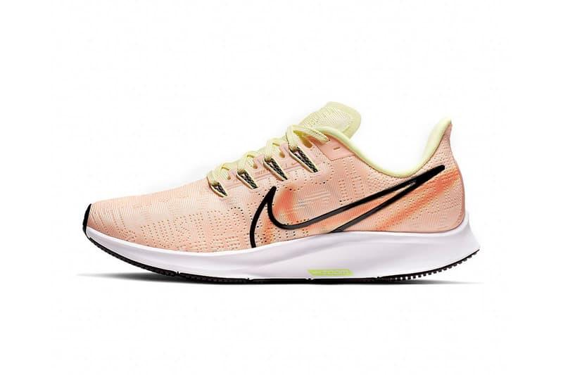 nike air zoom pegasus 36 premium rise coral crimson tint running shoes sneakers