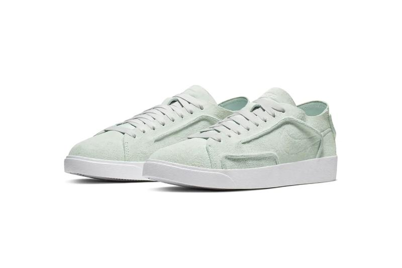 nike blazer low outburst deconstructed ghost aqua mint green suede sneakers sneakhead footwear shoes