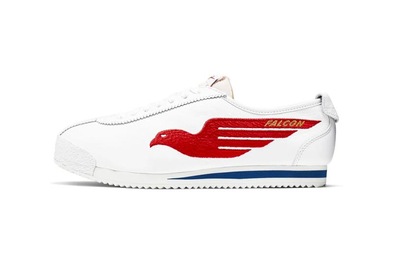 nike classic cortez shoe dog pack falcon dimension six sneakers white red blue colorway