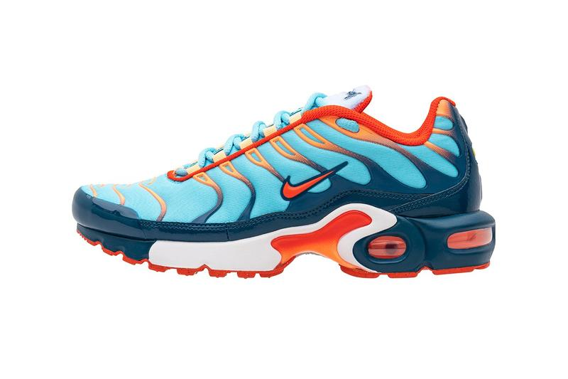 """Nike """"Evolution of the Swoosh"""" Collection Release Drop Sunburst Script Swoosh Chain Pack Air Force 1 Air Max Plus React Element 55 Air Max 97"""