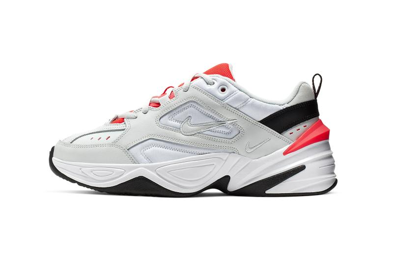 nike m2k tekno grey luminous green china rose white black ghost aqua crimson sneakers footwear shoes