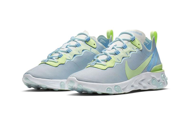 nike react element 55 summer pastel colors parachute beige bleached coral teal tint frosted spruce