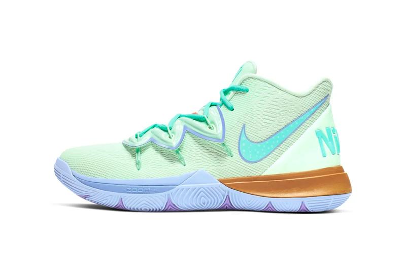 nike spongebob squarepants collaboration kyrie 5 squidward tentacles