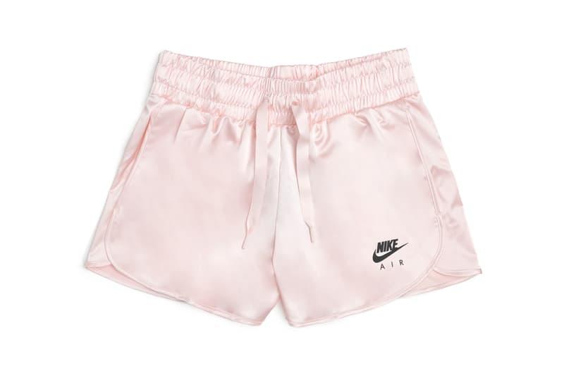 nike sportswear satin shorts elastic waist echo pink