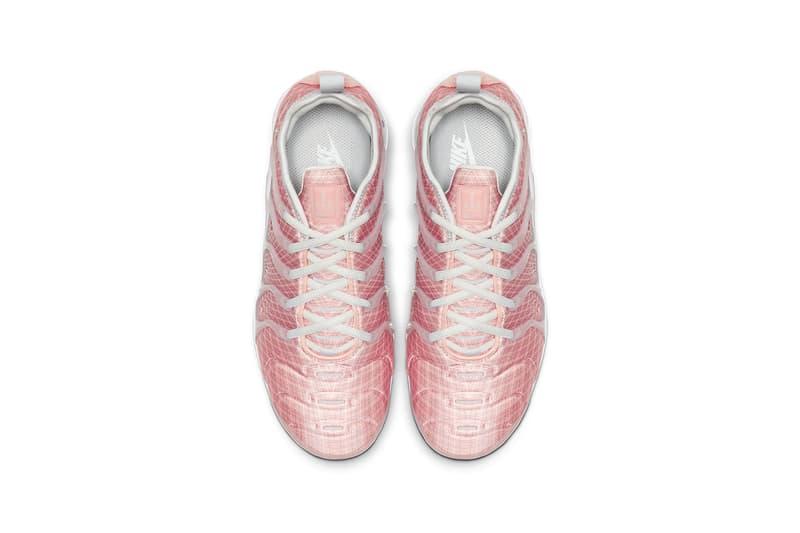 nike vapormax plus womens pink bleached coral sneakers sneakerhead footwear shoes