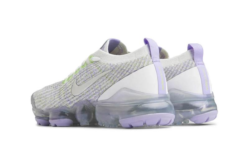 nike air vapormax flyknit 3.0 true white barely volt purple agate release sneakers