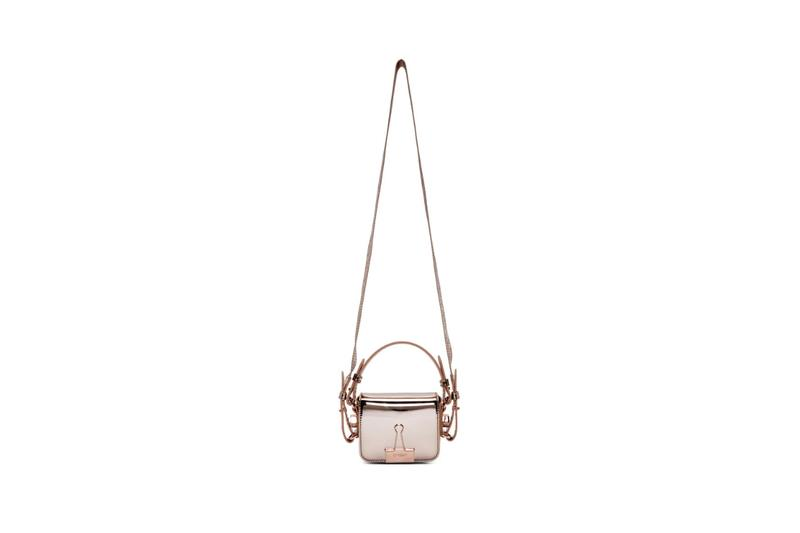 Off White Pink Mirror Baby Flap Bag