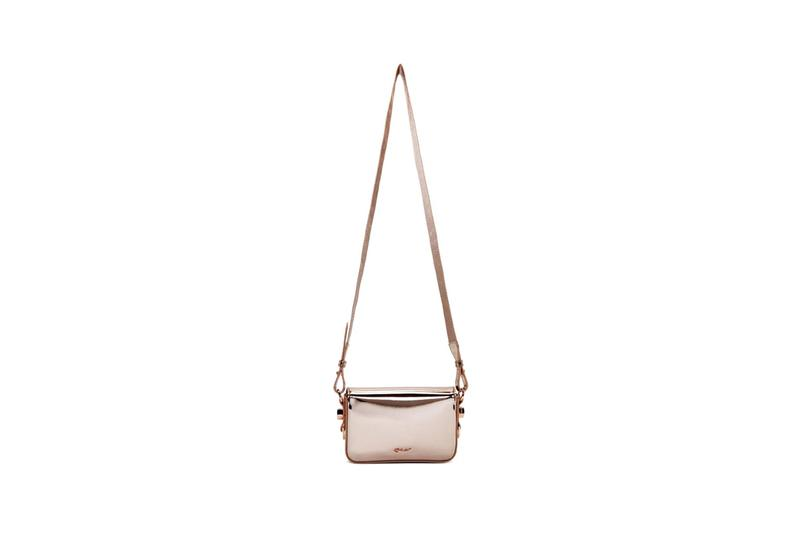 Off White Mini Flap Bag Baby Rose Gold Pink