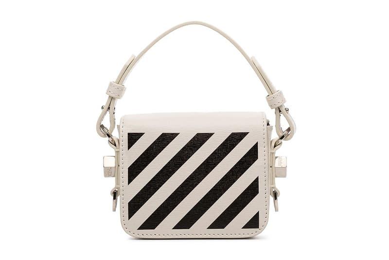 Off-White Monochrome Mini Baby Flap Shoulder Bag Virgil Abloh Handbag